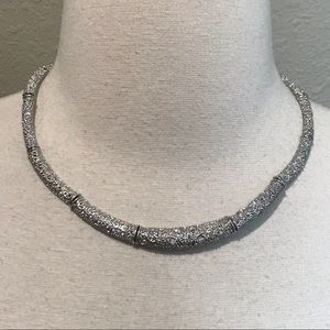 Premier Designs Silver Rhinestone Choker